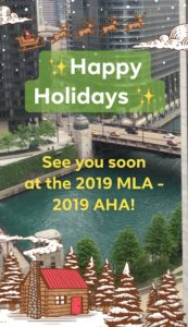 Picture of Chicago River to advertise the  2019 MLA Convention